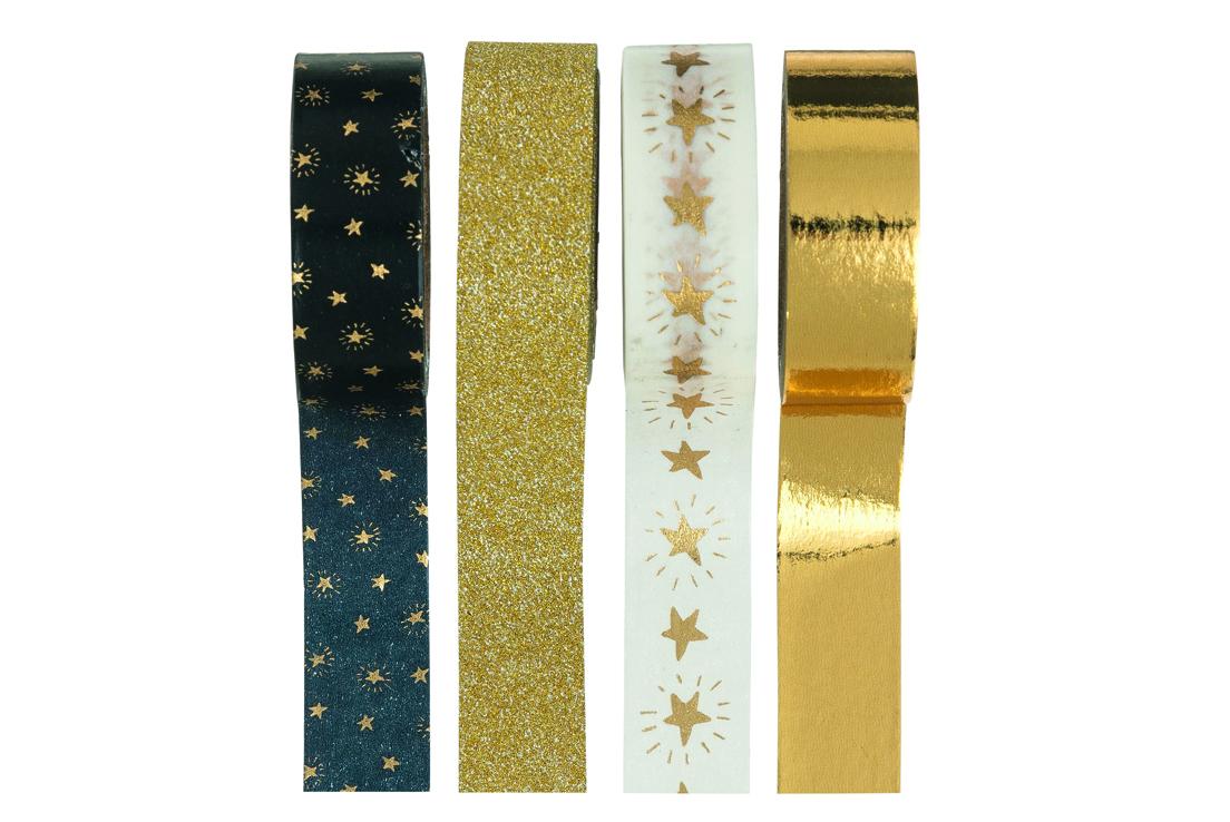 Imagen de varias cintas decorativas con motivos navideños