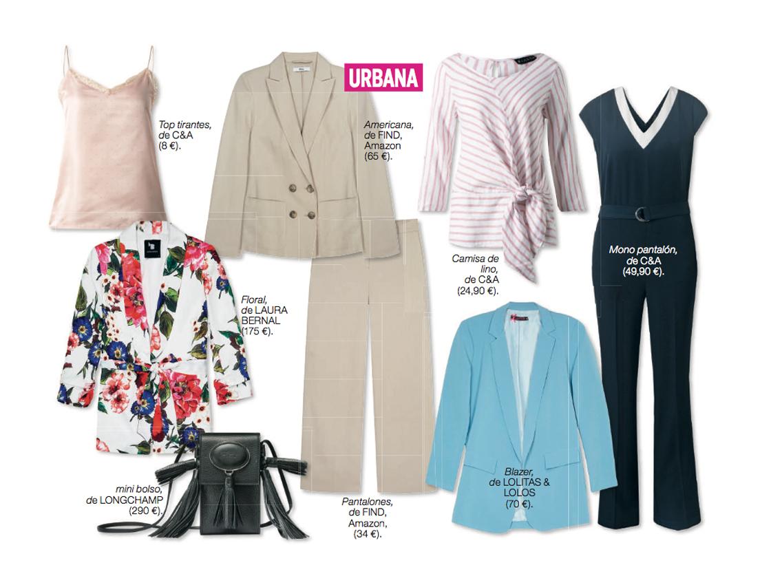 Bodegón de tendencias de moda femenina con diferentes prendas