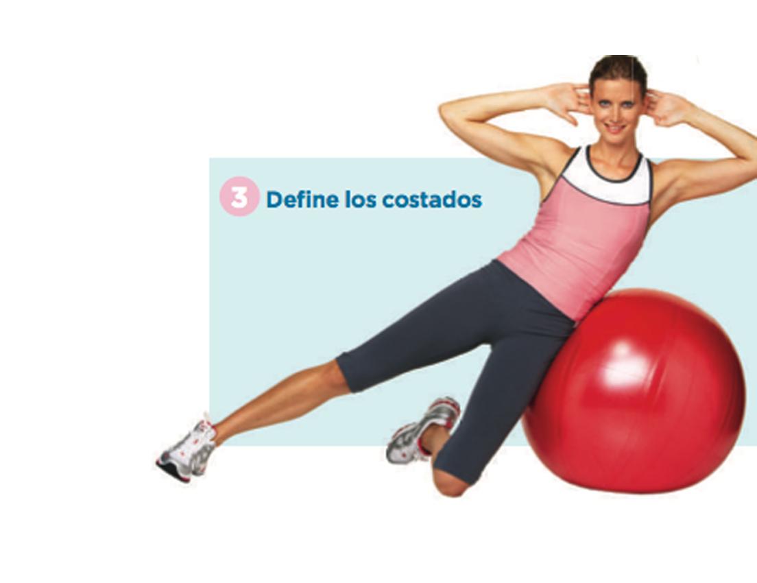 Imagen de una mujer haciendo ejercicio recostada en una pelota de pilates