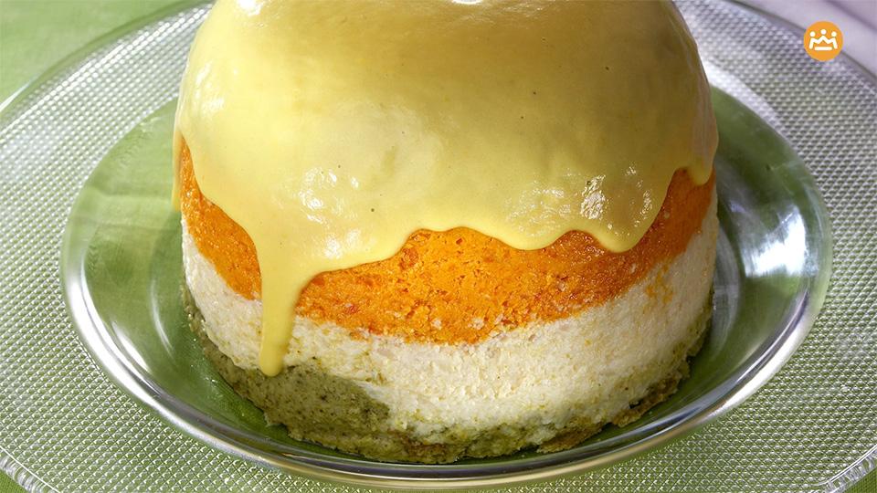 Primer plano de un pastel de verduras Alteza ya emplatado
