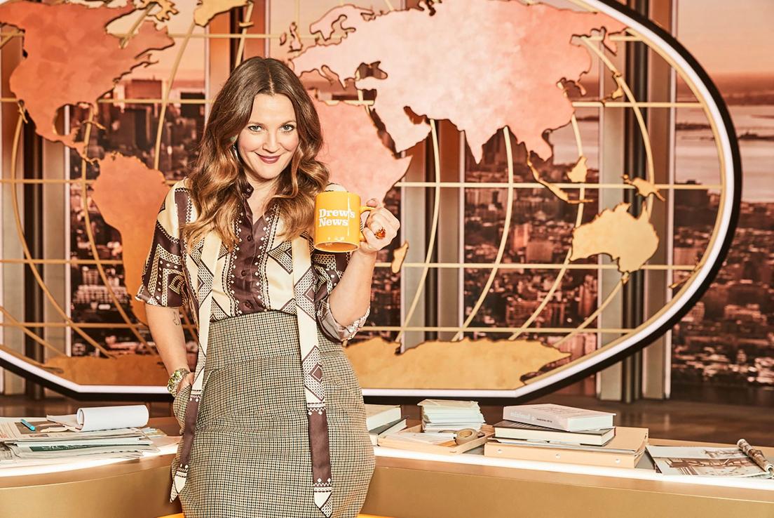 imagen de drew barrymore en su programa de television