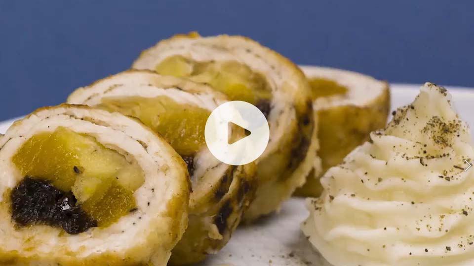 imagen rollitos de pavo con pure de patata