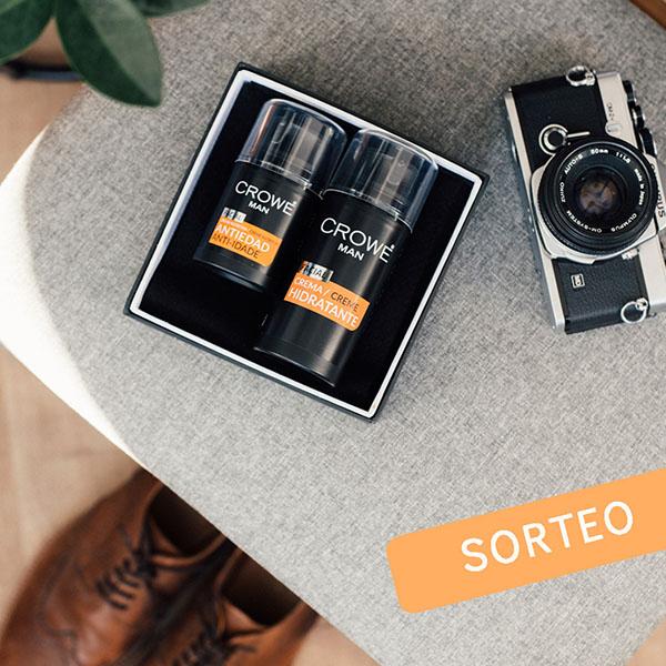 Imagen de dos productos Crowe en un plano cenital para el concurso de la marca en Instagram