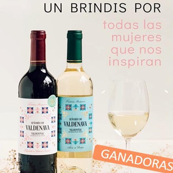 Imagen de dos botellas de vino para anunciar las ganadoras del concurso de Instagram de la revista Gente de hoy